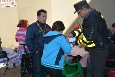 MOPC despeja a vendedores ambulantes en zona de obras