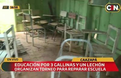 Caazapá: Educación por tres gallinas y un lechón