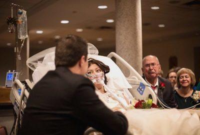 Se casó horas antes de morir