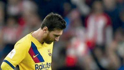 Messi no se ve en Champions