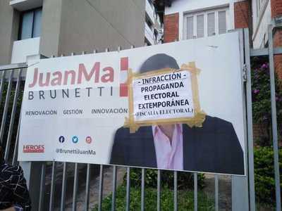 Procedimiento fiscal contra propaganda electoral extemporánea
