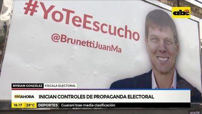 Inician controles de propaganda electoral