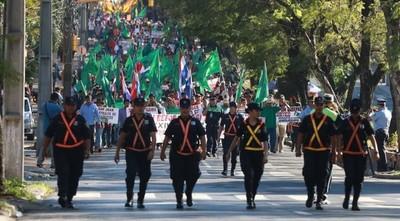 Policía inicia alerta máxima de seguridad desde hoy por la marcha campesina