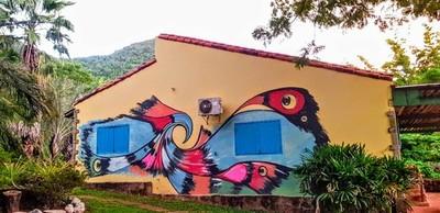 Colonia Independencia luce coloridos murales inspirados en relatos locales y sonidos del agua » Ñanduti