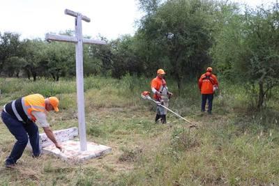Realizan limpieza de sitios históricos de la guerra en el Chaco