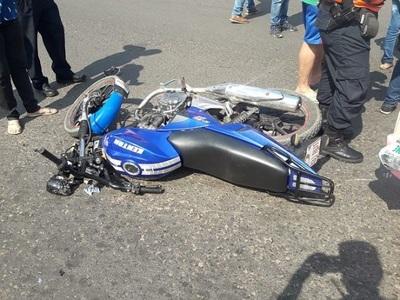 Choque de motos deja como saldo un fallecido y un herido