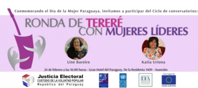 Invitan a una 'Ronda de Tereré: Mujeres, Liderazgo y Participación Política'