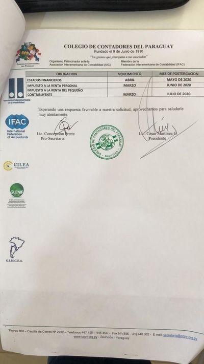 Colegio de Contadores solicita prórroga a la Subsecretaría de Estado de Tributación