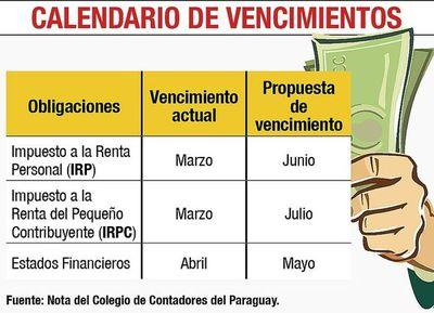 Contadores piden prorrogar plazo de vencimiento del IRP