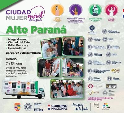 Ciudad Mujer Móvil prestará servicios esta semana en Alto Paraná