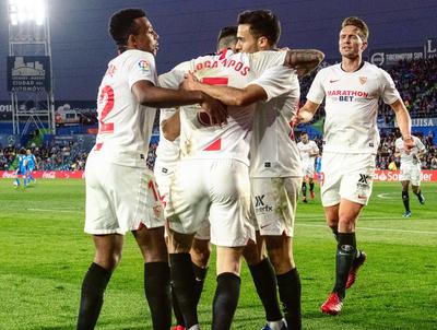 Sevilla golea al Getafe y lo supera en la clasificación