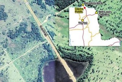 MOPC destruyó laguna en Amambay que habría sido formada por meteorito