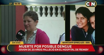 Investigan negligencia en muerte de joven con cuadro de dengue