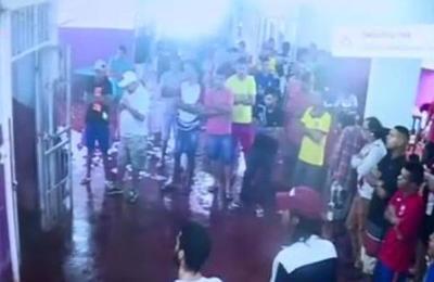 Revelan las imágenes de CCTV de la fuga de reos en Pedro Juan Caballero