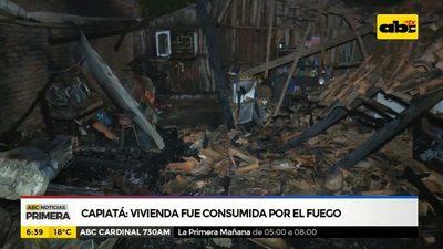 Capiatá: Vivienda fue consumida por el fuego