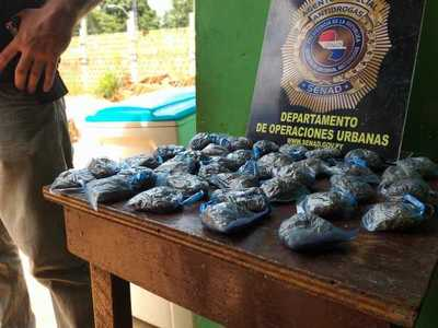 Detienen a proveedor que ofrecía marihuana a menores en Luque