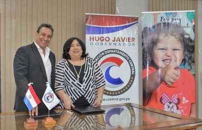 Ministerio de la Niñez y Gobernación de departamento Central firman convenio para mejorar la calidad de vida de la niñez y adolescencia