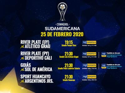 Semana de definiciones por Copa Sudamericana