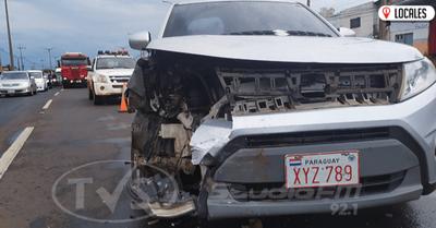 Aparatoso accidente de tránsito sobre la Ruta PY06 involucró a dos vehículos