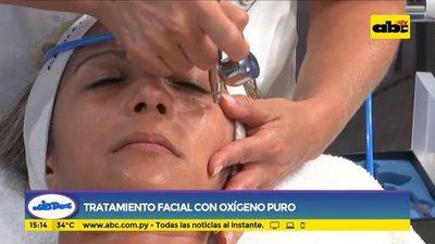 Tratamiento facial con oxígeno puro