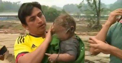 Milagroso rescate en Colombia: Salvaron a bebé atrapado en lodo por 8 horas