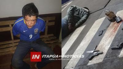 APREHENDIDO EN INTENTO DE ASALTO TIENE 5 HOMICIDIOS EN SU PRONTUARIO