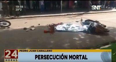Ladrón muere tras persecusión en PJC