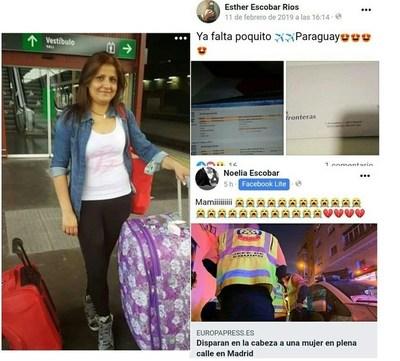 España: asesinaron a compatriota horas antes de abordar vuelo que la traería de vacaciones a Paraguay