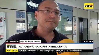 Coronavirus: Activan protocolo de control en PJC