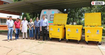 EBY entregó contenedores de basuras al HRE y al IPS