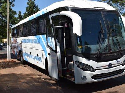 """Aparece otro """"bus de oro"""" comprado por la Gobernación del Guairá"""