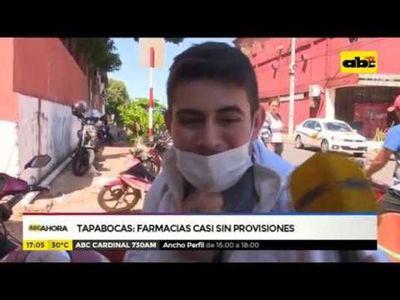 Tapabocas: Farmacias casi sin stock ante influenza