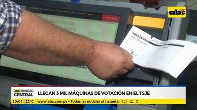 Llegan 3.000 máquinas de votación en el TSJE