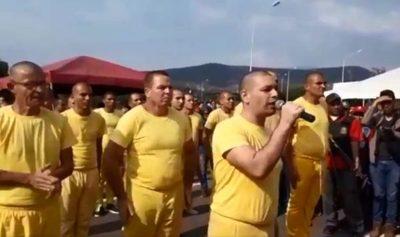 Video: Momento en que presos comunes son liberados y armados para apoyar al régimen de Maduro
