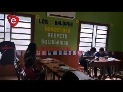 HABILITAN AULAS REFACCIONADAS Y CLIMATIZADAS EN ASENTAMIENTO GUAVIRAMI