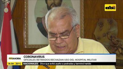 Coronavirus: oficiales retirados rechazan uso del hospital militar