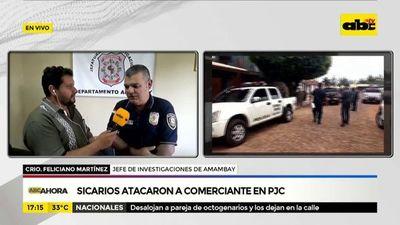 Sicarios atacaron a comerciante en PJC