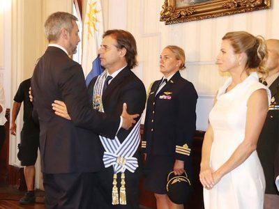 Abdo asistió a la asunción al mando del presidente uruguayo Lacalle Pou