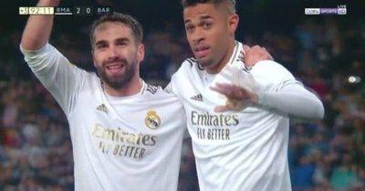 Real Madrid ganó 2-0 al Barcelona y se pone líder en la Liga de España