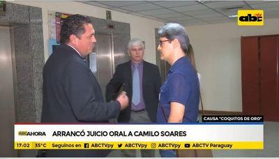 Arranca juicio oral a Camilo Soares