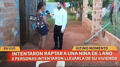 Intentan raptar a niña de un año en Alto Paraná