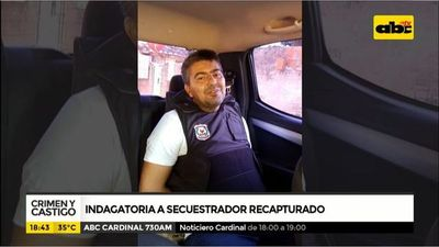 Indagatoria a secuestrador recapturado
