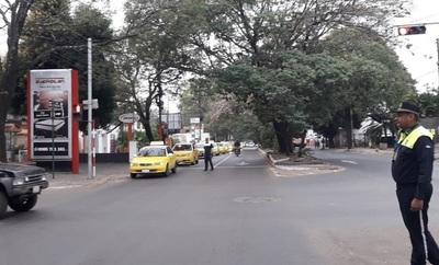 PMT garantiza libre tránsito ante manifestación de cuidacoches