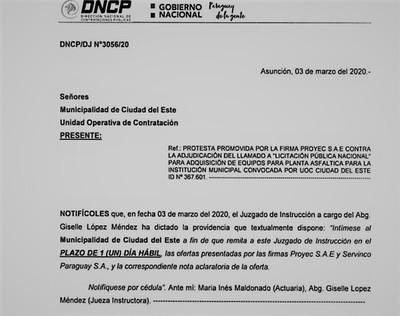 INTIMAN al intendente de CDE para que explique sobre NEGOCIADO