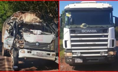 Accidente entre camiones deja un herido