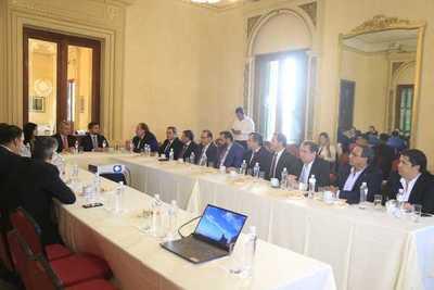 Consejo de Gobernadores se reunió con equipo técnico del FMI