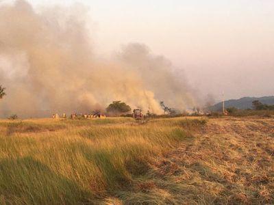 Reportan gran incendio en Paraguarí