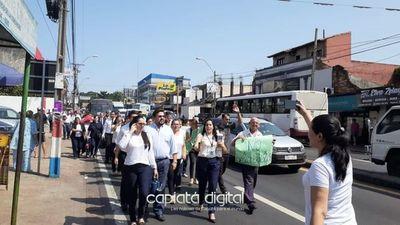 Funcionarios judiciales claman por reajuste salarial en Capiatá