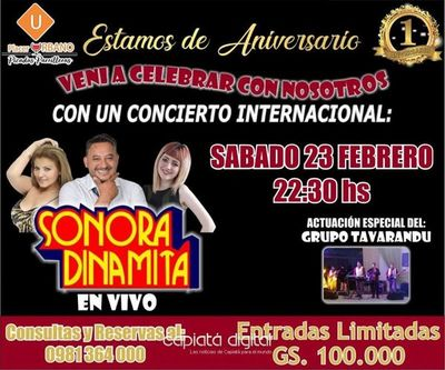 La Sonora Dinamita en primer aniversario de Placer Urbano