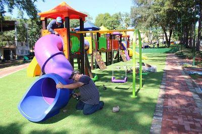 Parque inclusivo en espacio público culminará en breve